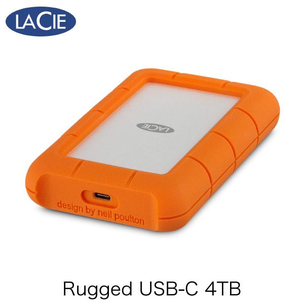【クーポン有】 Lacie 4TB Rugged Mini USB-C USB 3.1対応 耐衝撃 外付けHDD (ポータブル) # 2EUAPA ラシー (パソコン周辺機器)