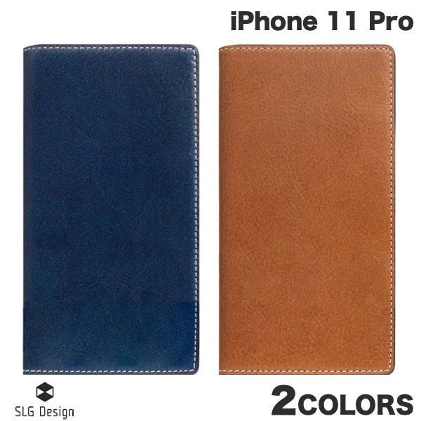 【クーポン有】 SLG Design iPhone 11 Pro Tamponata Leather case 本革 手帳型ケース エスエルジー デザイン (iPhone11Pro スマホケース)