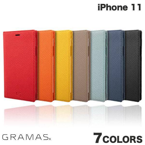 【クーポン有】 GRAMAS iPhone 11 Shrunken-calf Leather Book Case グラマス (iPhone11 スマホケース)