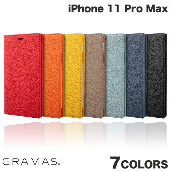 【マラソンクーポン有】 GRAMAS iPhone 11 Pro Max Shrunken-calf Leather Book Case グラマス (iPhone11ProMax スマホケース)