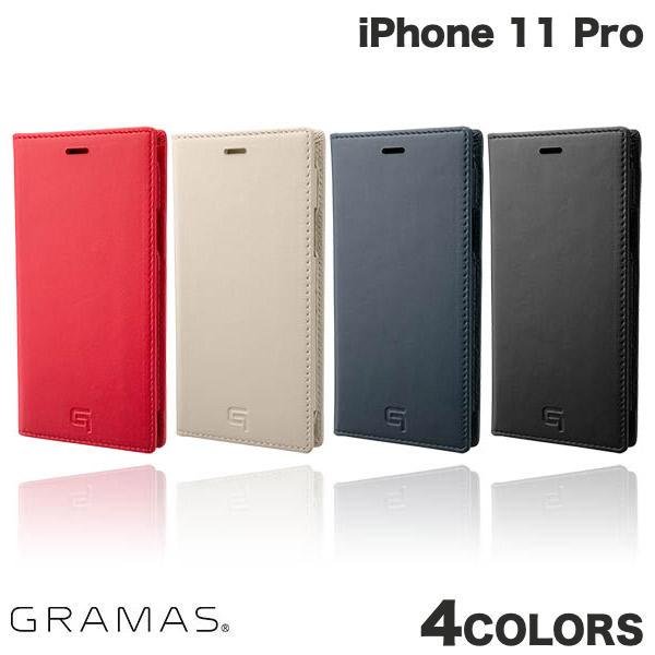 【マラソンクーポン有】 GRAMAS iPhone 11 Pro Genuine Leather Book Case グラマス (iPhone11Pro スマホケース)