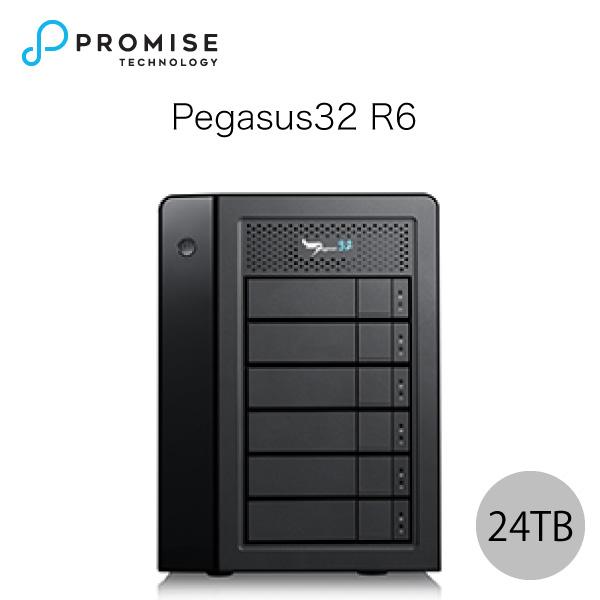 【クーポン有】 Promise Pegasus32 R6 24TB (4TBx6) Thunderbolt 3 / USB 3.2 Gen2 対応 ストレージ 6ベイ ハードウェア RAID外付けハードディスク # F40P2R600000004 プロミス テクノロジー (パソコン周辺機器)