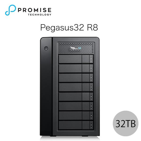 【クーポン有】[大型商品] Promise Pegasus32 R8 32TB (4TBx8) Thunderbolt 3 / USB 3.2 Gen2 対応 ストレージ 8ベイ ハードウェア RAID外付けハードディスク # F40P2R800000005 プロミス テクノロジー (パソコン周辺機器)