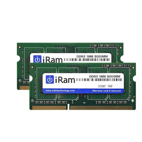 アップルプラットフォーム向けメモリー 創業28年のApple専門店 あす楽対応 iMac メモリ 増設 iRam PC3-14900 DDR3-1866 SO.DIMM 16GB # Macメモリー 8GB 2枚組 アイラム 輸入 x 2 IR8GSO1866D3 激安通販専門店