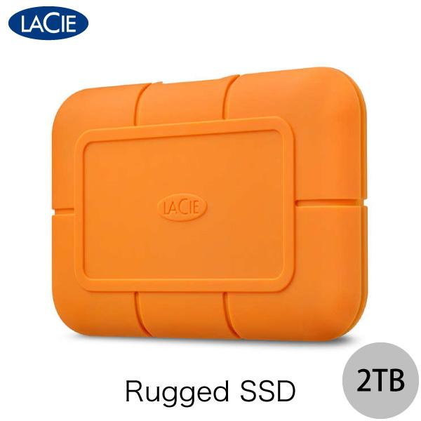 【クーポン配布中】 Lacie 2TB Rugged SSD USB3.1 (Gen 2) Type-C 対応 耐衝撃 外付けSSD (ポータブル) # STHR2000800 ラシー (外付けSSD)
