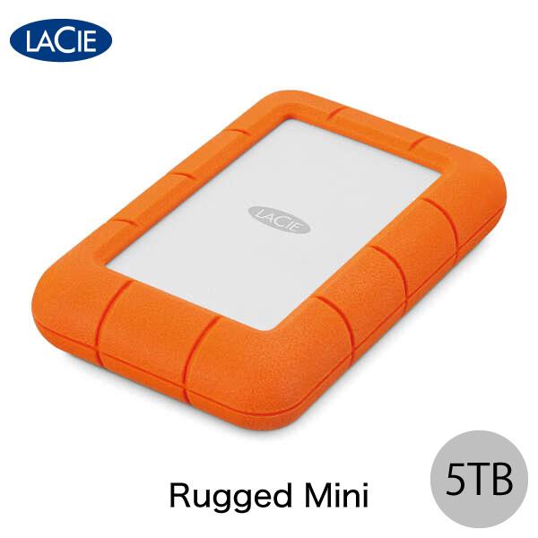 【クーポン有】 Lacie 5TB Rugged Mini USB 3.0対応 耐衝撃 外付けHDD (ポータブル) # STJJ5000400 ラシー (ハードディスク)