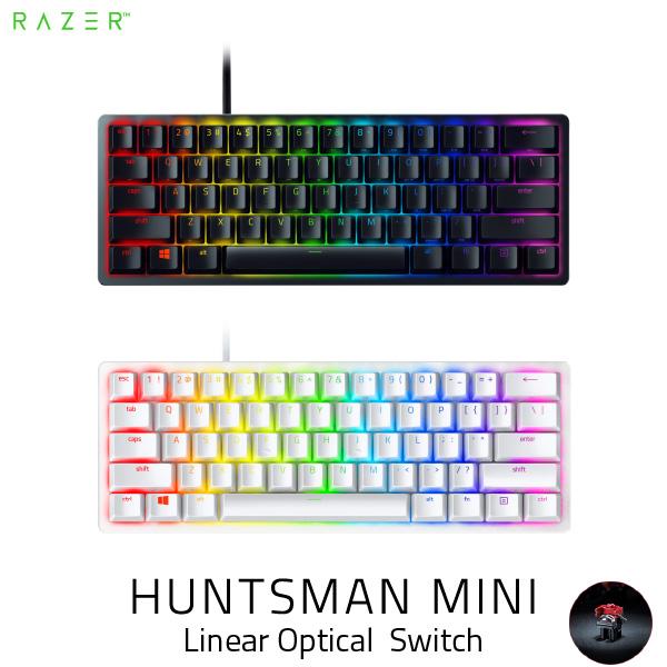 【クーポン有】 Razer Huntsman Mini 英語配列 静音リニアオプティカルスイッチ ゲーミング ミニキーボード レーザー (キーボード)