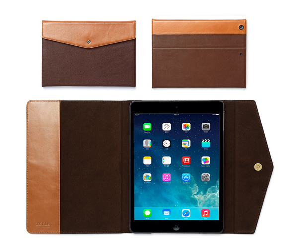 ZENUS iPad Air Prestige Envelope Folio ダークブラウン # Z2856iPA ゼヌス (iPad Air ケース)