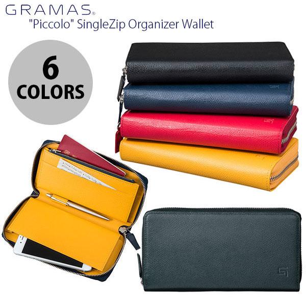 【マラソンクーポン有】 GRAMAS SingleZip Organizer Wallet グラマス (iPhone汎用 ケース) 長財布