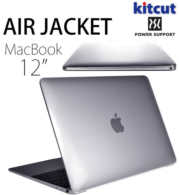 PowerSupport エアージャケット for Macbook 12inch(2015・クリア) # PMC-11 パワーサポート (Mac カバー)