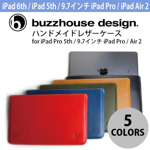 buzzhouse design iPad 6th / 5th / 9.7インチ iPad Pro / Air 2 ハンドメイドレザーケース バズハウスデザイン (タブレットカバー・ケース)