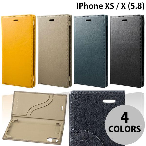 【マラソンクーポン有】 GRAMAS iPhone XS / X Full Leather Case グラマス (iPhoneXS / iPhoneX スマホケース)