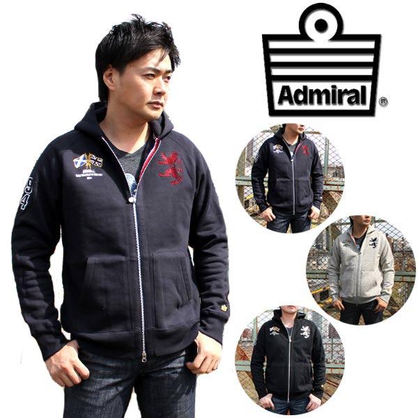 アドミラルゴルフ Admiral GOL メンズ パーカー グレー ブラック ネイビー M L LLF ADMA4U6