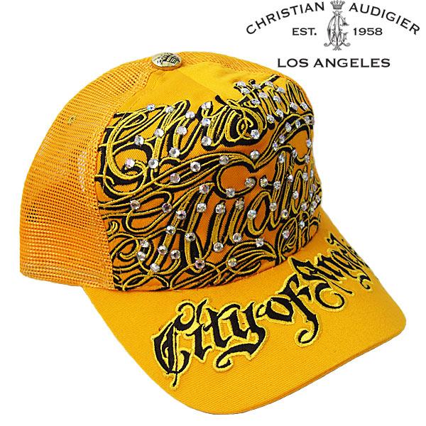 kitss  Christian Audigier caps Christian Audigier Hat CAP embroidered  rhinestone yellow   black  c0ba8de7736