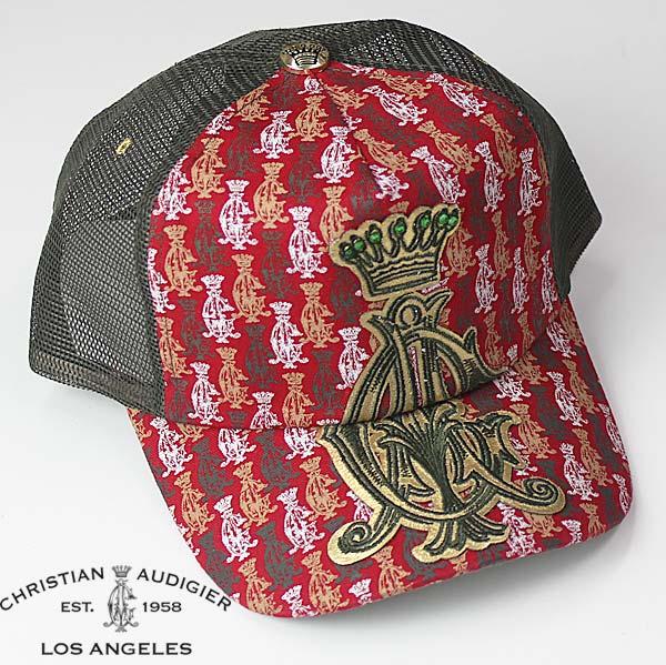 Christian Audigier キャップ クリスチャンオードジェー シティーオブエンジェル 帽子 CAP ロゴ ラインストーン