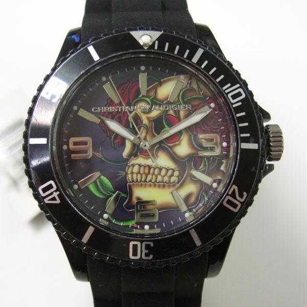 Christian Audigier 時計 クリスチャン オードジェー 腕時計 スカル SWI-645