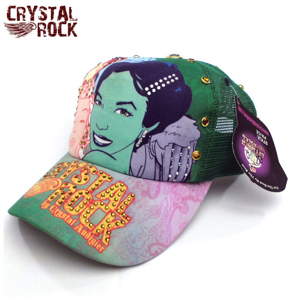 Crystal Rock キャップ クリスタルロック COMICS コミック グリーン 帽子 CAP