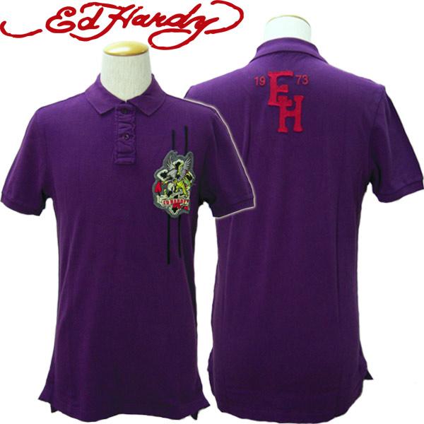 エドハーディー Ed Hardy ポロシャツ メンズ EAGLE MSHOEA76 エド・ハーディー edhardy タトゥー