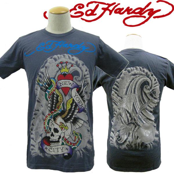 エドハーディー Tシャツ メンズ Ed Hardy ニューヨーク スカル ラインストーン R1DBBXXK エド・ハーディー edhardy タトゥー