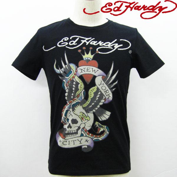 エドハーディー Tシャツ メンズ Ed Hardy NEW YORK CITY ニューヨーク スカル ブラック M02JBSC057 エド・ハーディー edhardy タトゥー