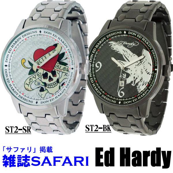 エドハーディー 時計 メンズ Ed Hardy STELLER2シリーズ LOVE KILLS SLOWLY ラブキル イーグル スカル ST2-SR ST2-BK エド・ハーディー edhardy