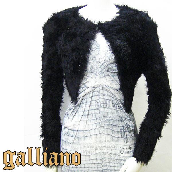 Galliano ガリアーノ レディース カーディガン ボレロ 長袖 ブラック YR7828 JohnGalliano ジョンガリアーノ Cardigan