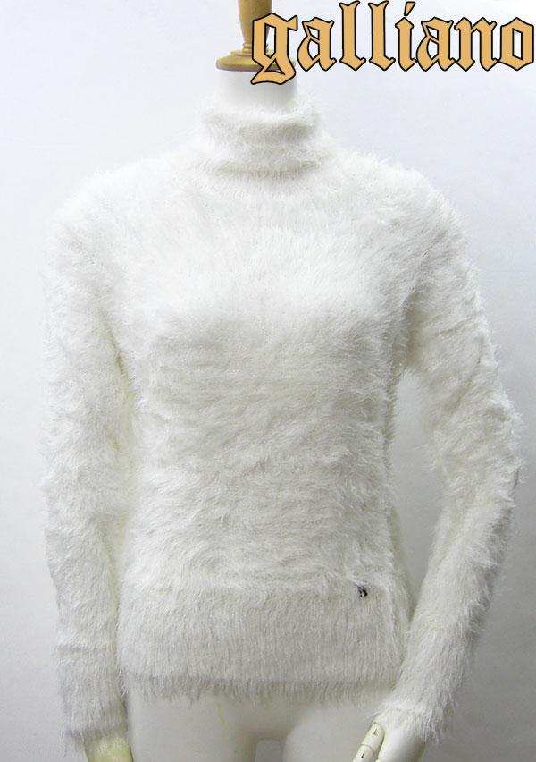 アウトレット Galliano ガリアーノ レディース セーター Sweater ホワイト YR7826 JohnGalliano ジョンガリアーノ