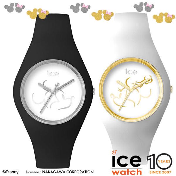 アイスウォッチ(ICE WATCH) 腕時計 ユニセックス ディズニー(Desney) 黒(ミッキー)/白(ミニー)