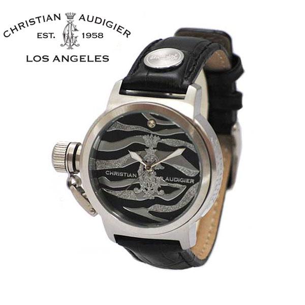 クリスチャン オードジェー 時計 Christian Audigier 腕時計 INT-335 Kanya シルバー