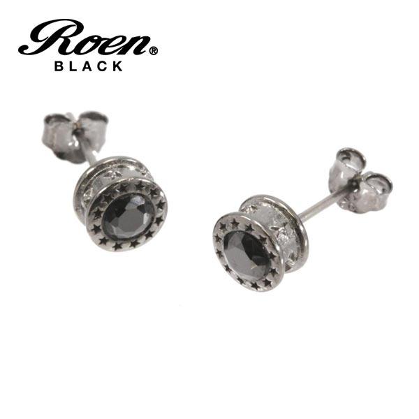 Roen BLACK ビアス ロエン ブラック スタッドピアス 星 スター ブラック キュービックジルコニア ブラック RO-113 チタンポスト メンズ レディース アクセサリー ジュエリー ブランド アクセ
