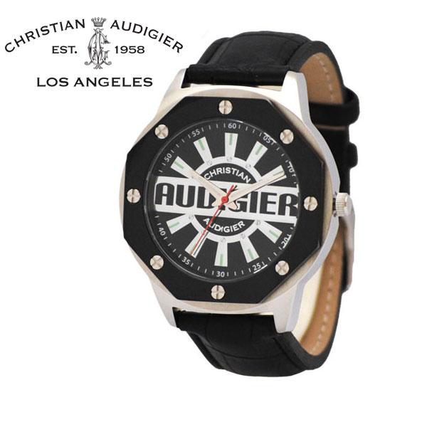 新色追加して再販 送料無料 お買得 Christian Audigier 時計 クリスチャン オードジェー メンズ 腕時計 SWI-655 ブラック