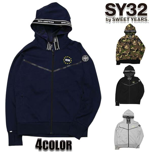 SY32 by SWEET YEARS パーカー メンズ ワールドスター ジップフーディー エスワイサーティトゥバイスィートイヤーズ ワールドスター フーディー 9015 トップス アウター SWEET YEARS エスワイ32