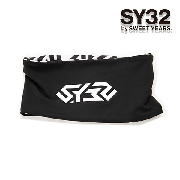 SY32 by SWEET YEARS N.T.N REVERSIBLE HAIR BAND ヘッドバンド リバーシブル 9040 (BLACK) レディース メンズ ユニセックス サッカー