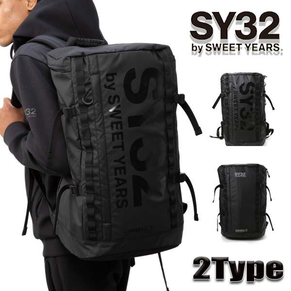 スィートイヤーズ(SY32 by SWEET YEARS) バックパック レディース/メンズ LOGO ロールトップ ブラック 全2種類