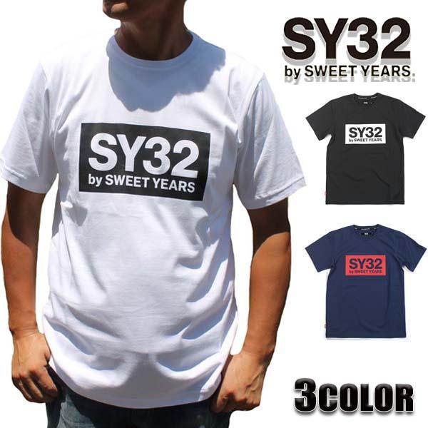 SY32 by SWEET YEARS Tシャツ メンズ エスワイサーティトゥバイスィートイヤーズ 半袖Tシャツ TNS1708 ブラック ホワイト ネイビー TSHIRT TEE トップス SWEET YEARS