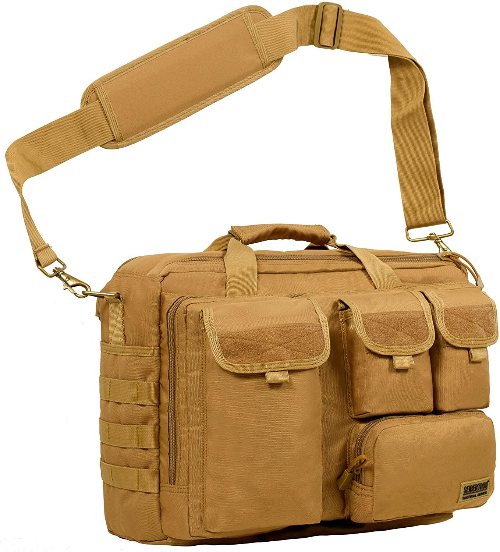MOLLEシステム対応のサイバトロン社のPCバッグ サイバトロン Seibertron 高品質防水900D多機能ショルダーバッグ MOLLE 軍事戦術バッグ Computer pc Bag laptop 14.1