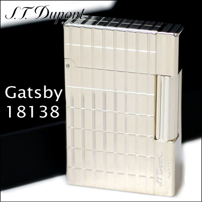 エス・テー・デュポン ギャツビー ライター 18138 インターセクト シルバー装飾 ギャッツビー フリントガスライター デュポンライター