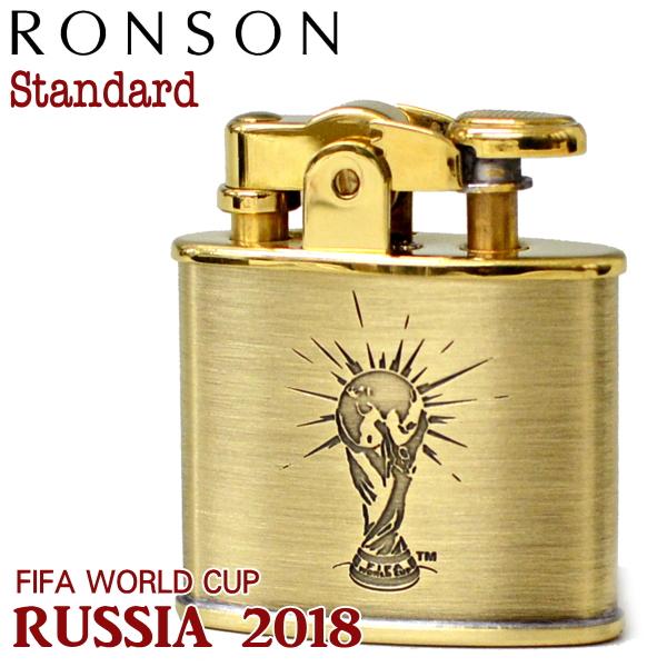 RONSON Standard ロンソン スタンダード ライター 2018WC R-2BB FIFA ワールドカップ トロフィーデザイン アンティークブラス ロンソンオイルライター