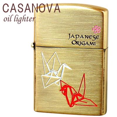 CASANOVA カサノバ オイルライター 和柄シリーズ 折り紙/オリガミ カサノヴァライター CA-ORIGAMI