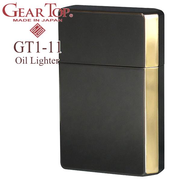 GEAR TOP ギアトップ GT1-11 NEO-BKG チタンコーティングネオブラック&ゴールドメッキ オイルライター