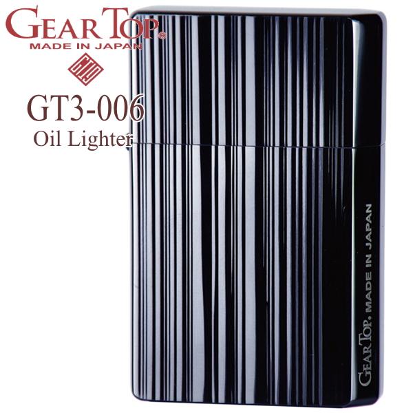 GEAR TOP ギアトップ GT3-006 ストライプBN ブラックニッケル オイルライター
