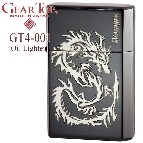 GEAR TOP ギアトップ GT4-001 ドラゴンBNS ブラックニッケル/シルバー オイルライター