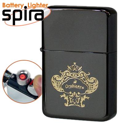 オロビアンコ USBライター スパイラ spira OSP-101BK アーマーチタンコーティングネオブラック USB充電式バッテリーライター