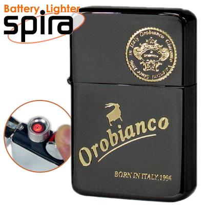 オロビアンコ USBライター スパイラ spira OSP-102BK アーマーチタンコーティングネオブラック USB充電式バッテリーライター