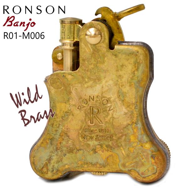 RONSON Banjo ロンソン バンジョー ライター R01-M006 ワイルドブラス ロンソンオイルライター