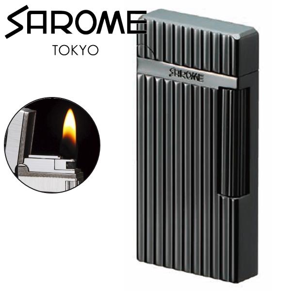 SAROME サロメ ライター SD6A-02 クロニッケル/ワイドダイヤカット ローラーフリントガスライター