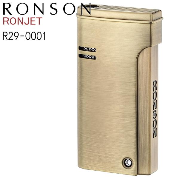 RONSON RONJET ロンソン ロンジェット R29-0001 ブラスサテン 金色 ゴールド バーナーフレーム ガスライター ターボライター