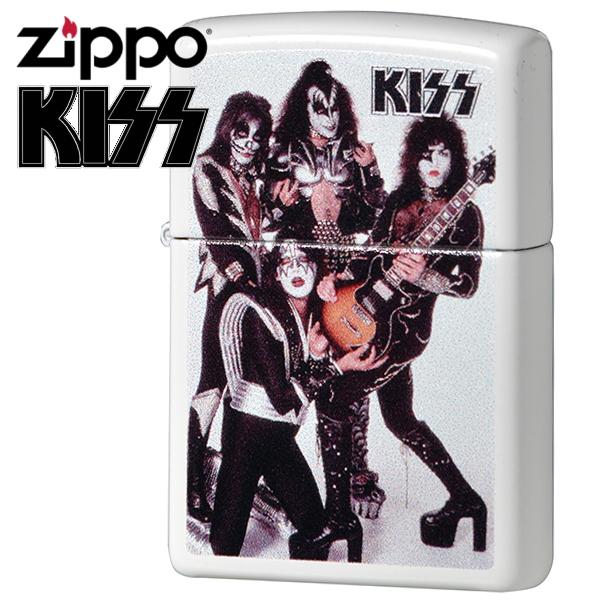 ZIPPO ライター ジッポー 49017 KISS キッス ホワイトマット アーティスト モデル コレクション ZIPPOライター メンズ ギフト