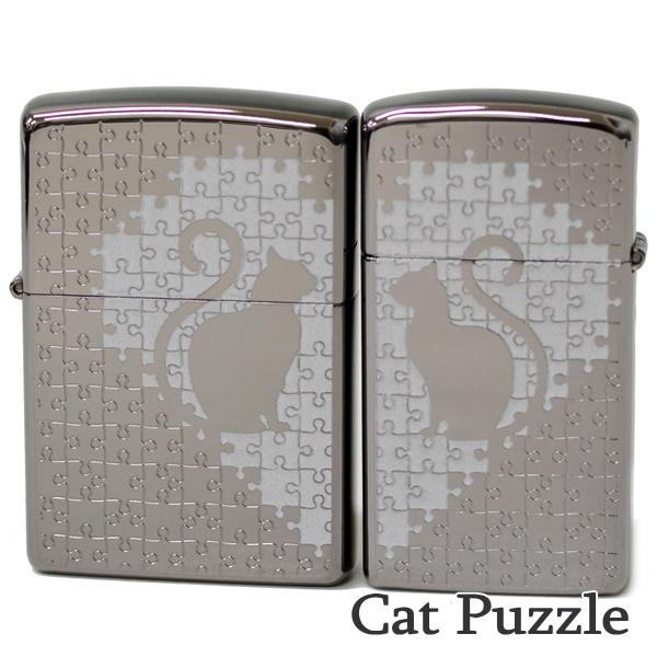 ZIPPO ペア ジッポー キャットパズルペアBK ブラック 猫ちゃん かわいい ジッポーオイルライター Zippo Lighter【誕生日】【記念日】【クリスマス】【ギフト】
