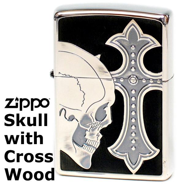 ZIPPO ジッポー ライター SCW-A スカルウィズクロスウッド ブラックウッド 渋い ジッポーライター Zippo Lighter【誕生日】【記念日】【クリスマス】【ギフト】